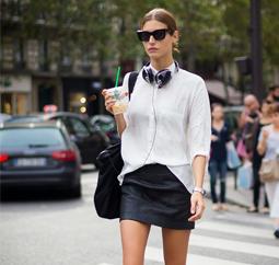 颜值控们最爱这么穿 衬衫+半裙让你美美到初秋!