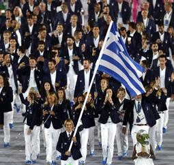 热爱无国界 ┃ 希腊与南非代表团着361度入场服亮相里约奥运开幕式