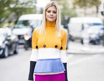 时装周潮人宣布这四种色彩最流行,显白扮美全都行!