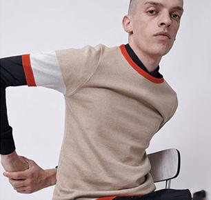 2018春夏男装款式流行 创新针织